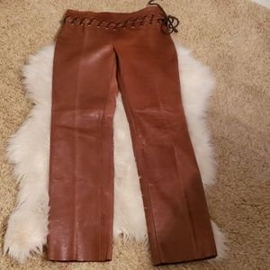 Cynthia rowley leather pants